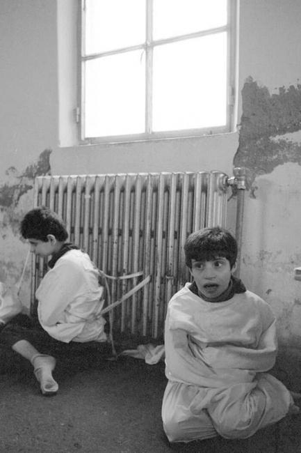 Ospedale psichiatrico di Deir el Qamar Libano nel 1982 - José Nicolas Corbis via Getty Images